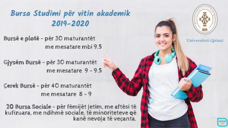 Bursa Studimi për vitin akademik 2019-2020
