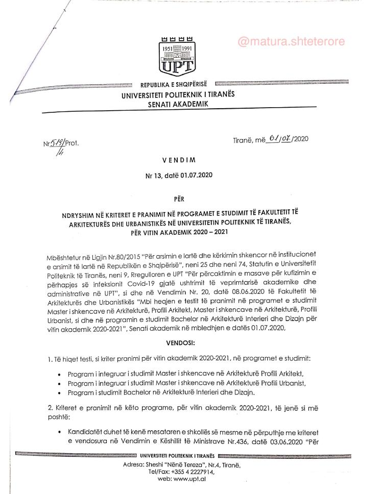 Vendimi-13-i-senatit-akademik-mbi-pranimet-ne-vitin-akademik-2020-2021-ne-FAU-page-001
